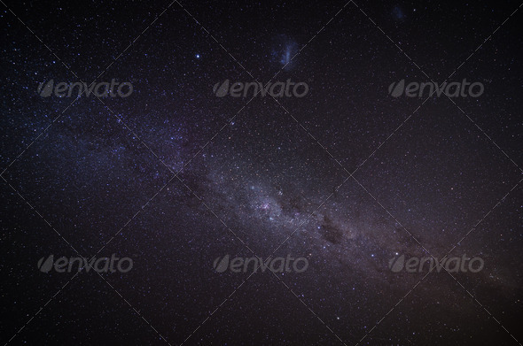 The Milky Way in the night sky - Stock Photo - Images