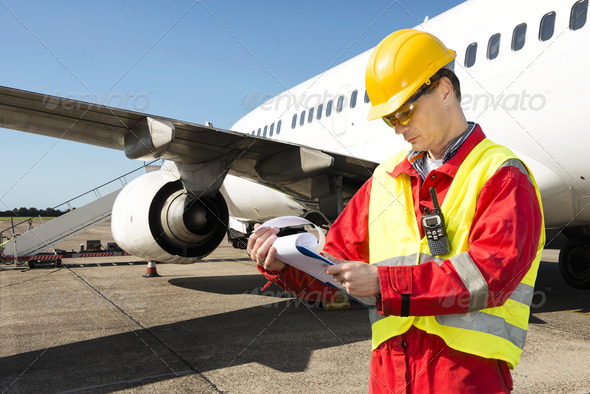 Aircraft engineer - Stock Photo - Images