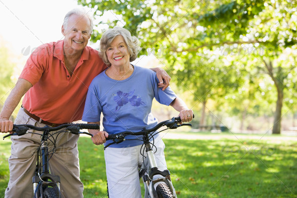 PhotoDune Senior couple on cycle ride 308237