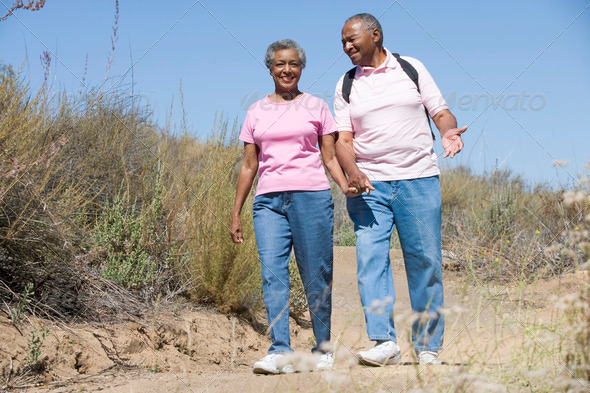 PhotoDune Senior couple on walk 308244