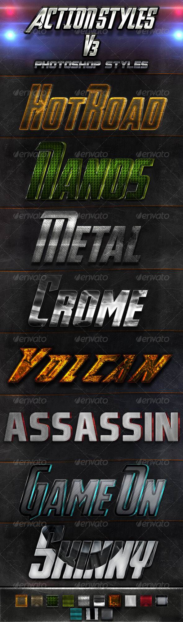 Action Styles V3 - Text Effects Styles