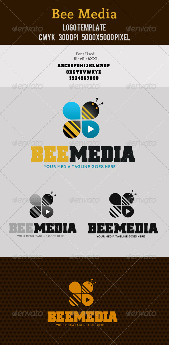 Bee Media Logo - Animals Logo Templates