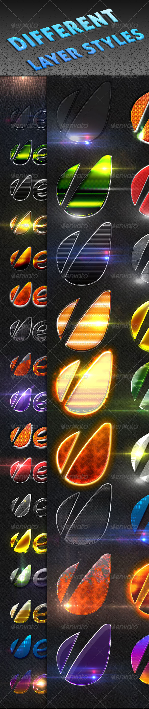 GraphicRiver Different Layer Styles 2971646