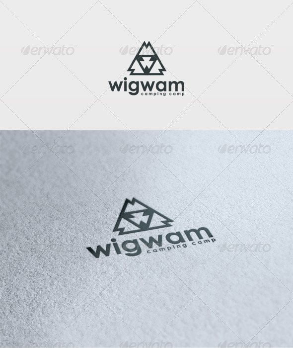 Wigwam Logo - Vector Abstract