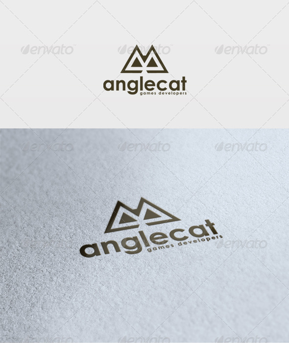 Angle Cat Logo - Vector Abstract