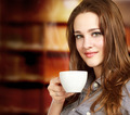 Young Woman Enjoying a Hot Beverage - PhotoDune Item for Sale