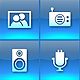 Bounce Series Icons Set - Blue Multimedia - ActiveDen Item for Sale