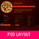 Il Paradiso, Pizza & Pasta – Restaurant PSD Layout