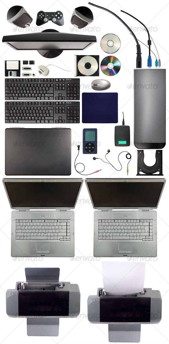 Computer Equipment Pack - Technology Isolated Objects