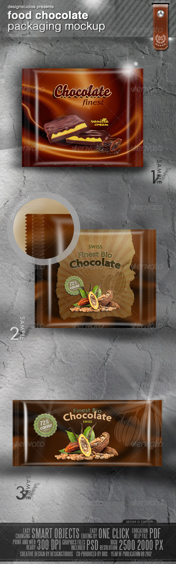 Food (Chocolate) Packaging Mock-Up