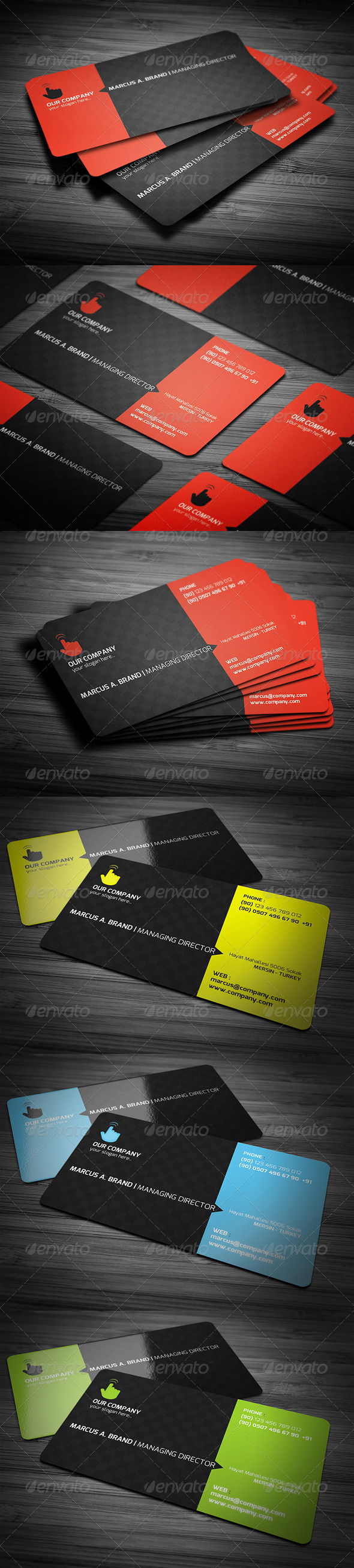 GraphicRiver Rounded Corner Business Card 2975934