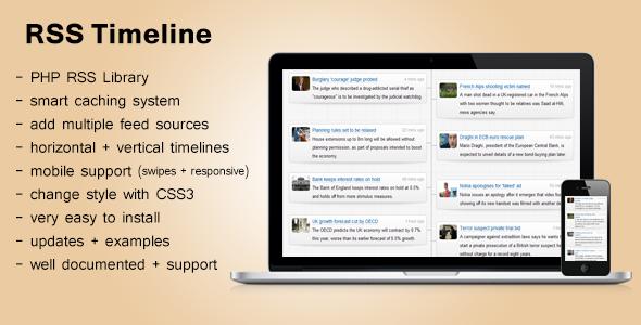 Responsive RSS Timeline