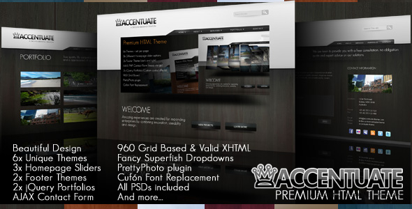 Accentuate Premium HTML Theme / Business Portfolio