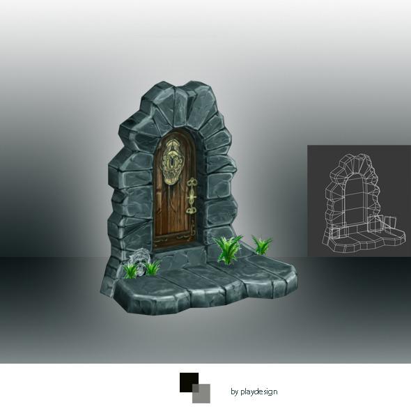 Door Low Ploly - 3DOcean Item for Sale