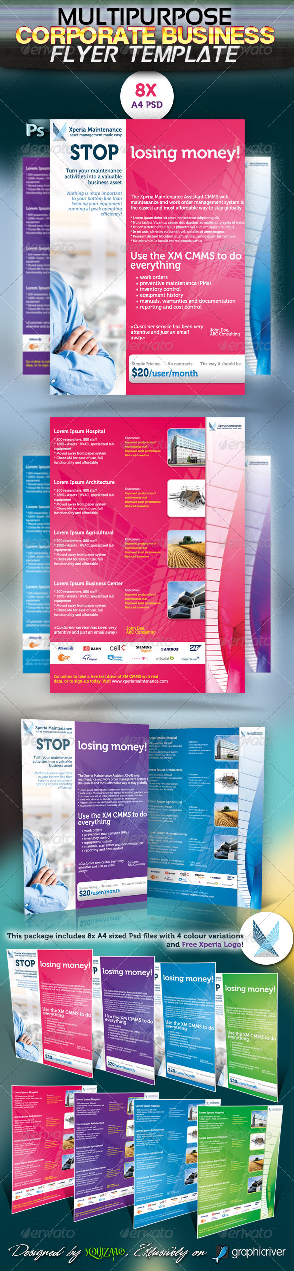Multipurpose Corporate Business Flyer - Corporate Flyers