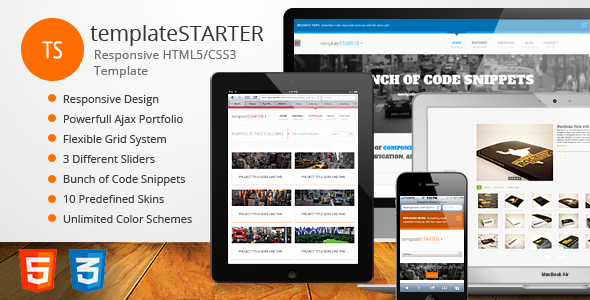 templateSTARTER - Responsive HTML5/CSS3 Template