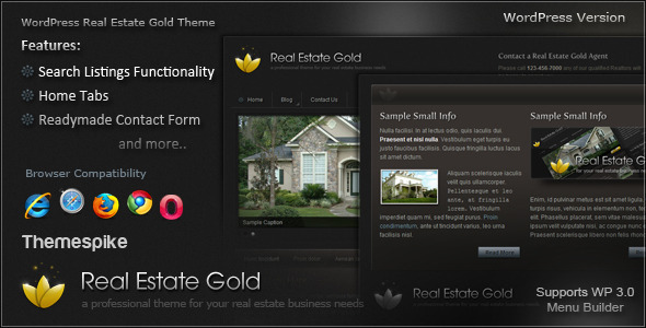 ThemeForest Real Estate Gold 110400