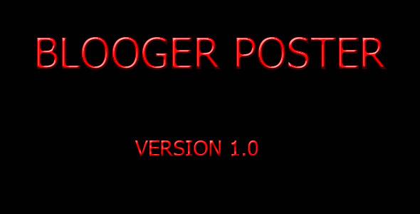 CodeCanyon Blogger Poster 2967672
