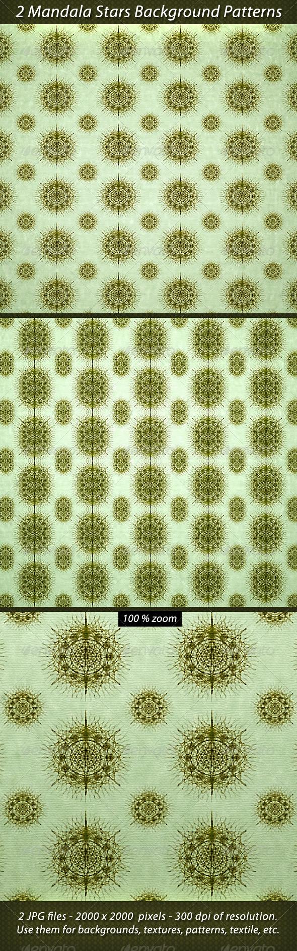 2 Mandala Stars Background Patterns - Patterns Backgrounds