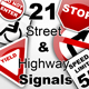 21 Street & Highway Signals - GraphicRiver Item for Sale