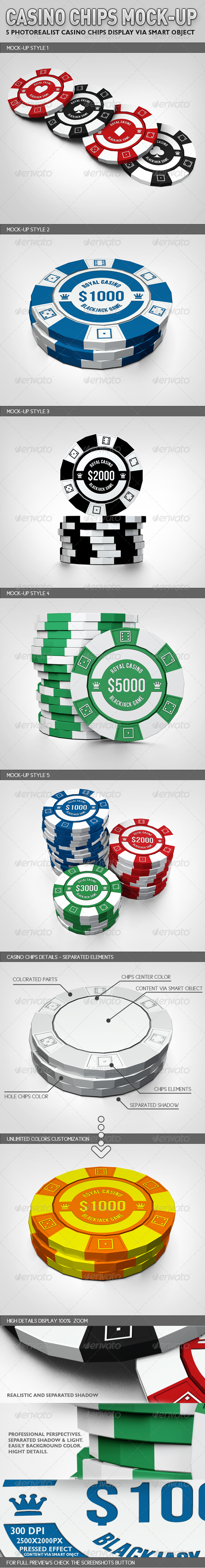 GraphicRiver Casino Chips Mock-up 2979079