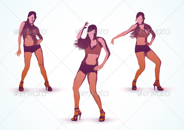 Dancing girls  - People Characters