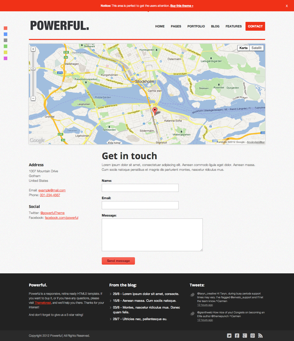 Powerful - Responsive, Retina-ready HTML5 template