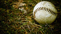 Old baseball left outside in autumn - PhotoDune Item for Sale