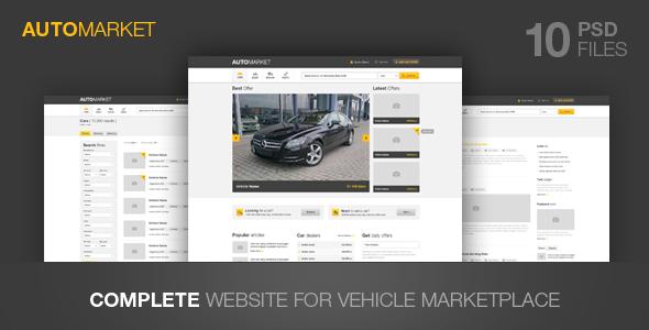 ThemeForest AutoMarket Vehicle Marketplace 2979799