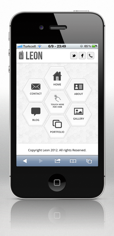 Leon Mobile Web Template