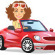 Women Driving Convertible - GraphicRiver Item for Sale