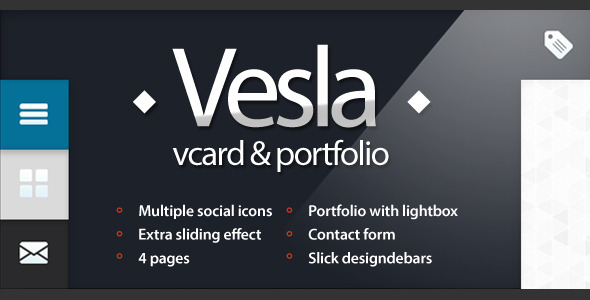 Vesla - Vcard and Portfolio Html Template