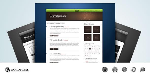 Dejavu professional HTML/CSS theme - Thumbnail