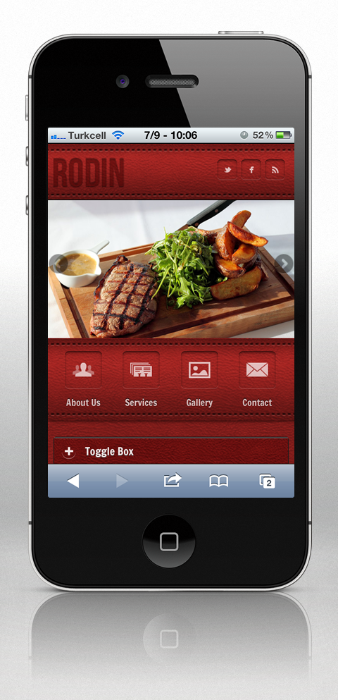 Rodin jQuery Mobile Web Theme