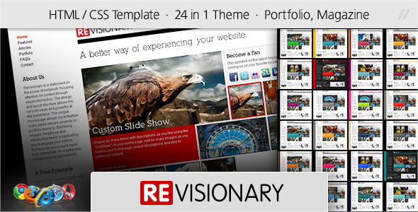 ReVisionary - HTML Portfolio and Magazine Site