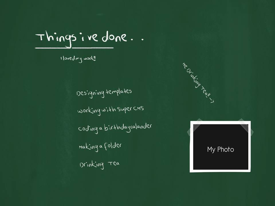 Fresh Creative Chalkboard Presentation Templates