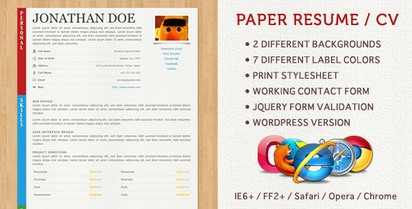 top 10 presentable resume and cv fazai38 inspirations