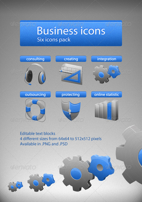 GraphicRiver Business icons 2981125