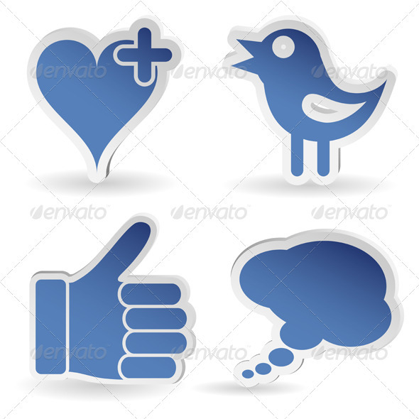 Set Social Media Sticker