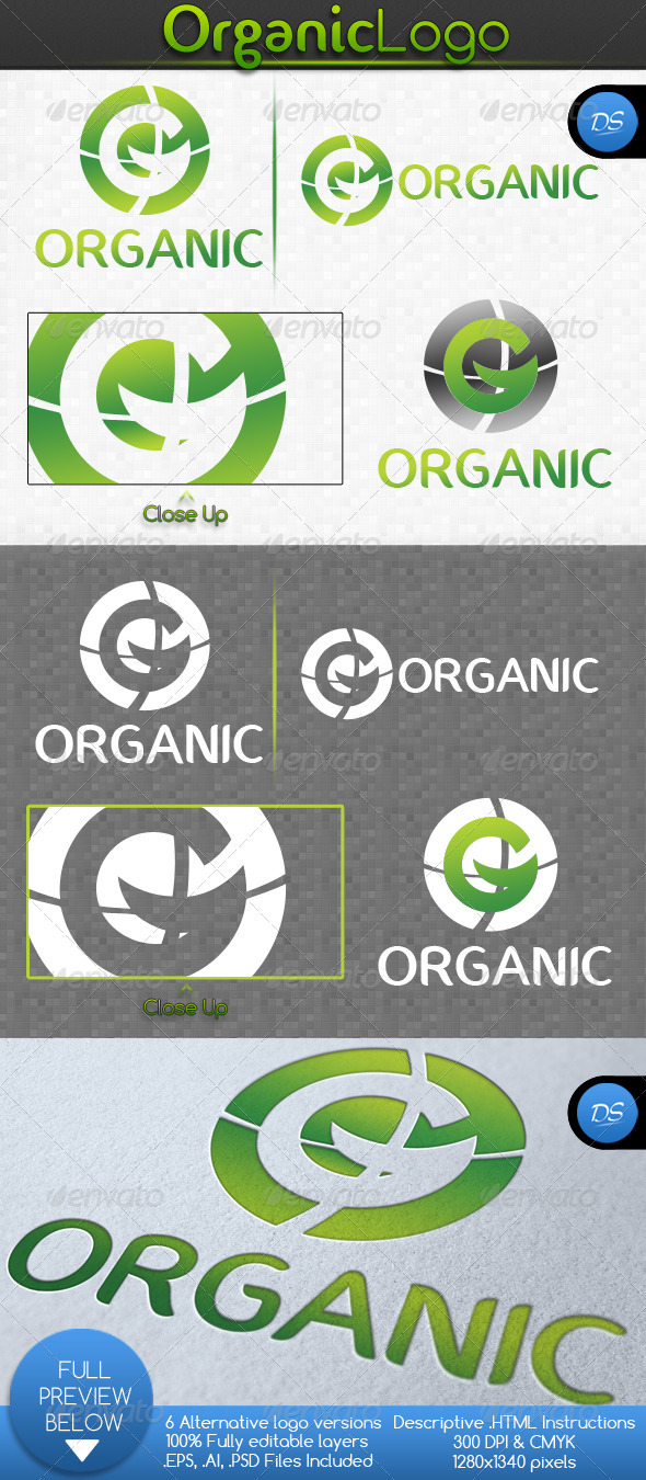 GraphicRiver Organic Logo Template 2981699