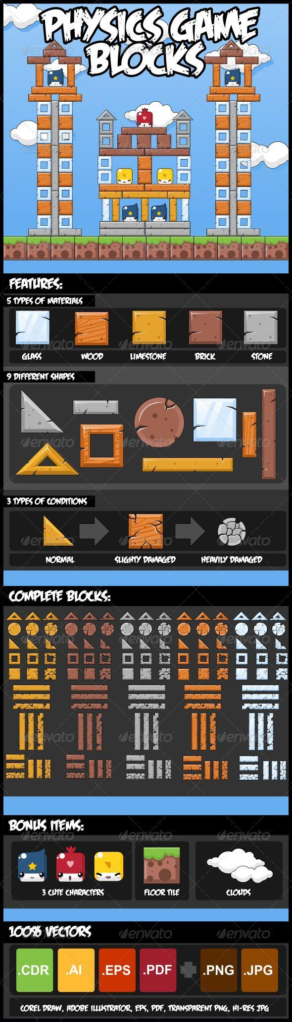 GraphicRiver Physics Game Block Set 2982272