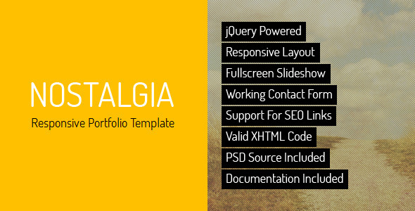 Nostalgia - Responsive Minimal Portfolio Template  - Portfolio Creative