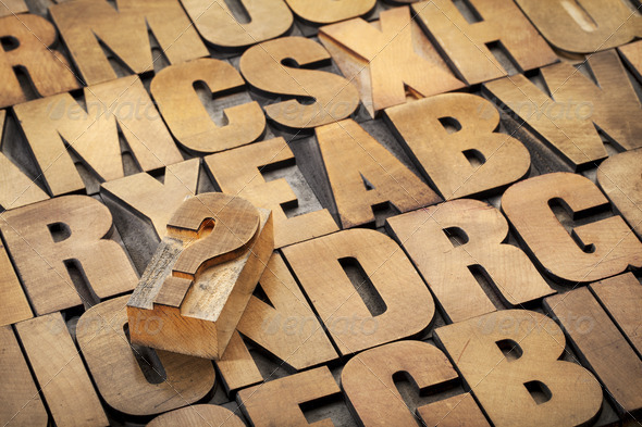 question mark and alphabet - Stock Photo - Images
