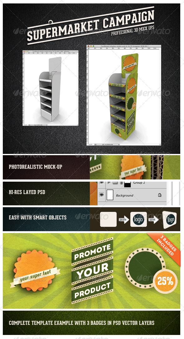 GraphicRiver Card Board Display Mock-up 2970661