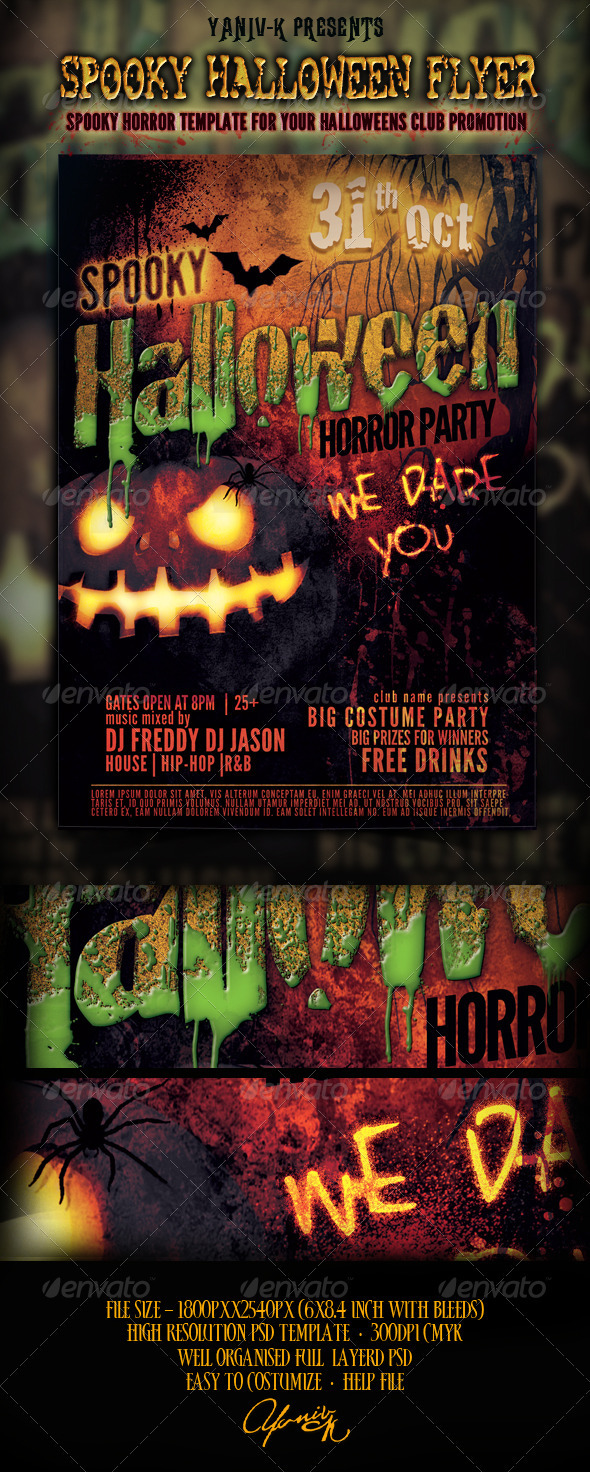 Spooky Halloween Flyer Template - Holidays Events