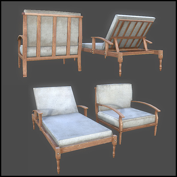 Terrace Furniture - 3DOcean Item for Sale