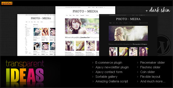Phomedia Wordpress Theme - A WP E-Commerce theme - Phomedia theme overview