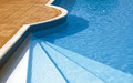 Steps to the Swimming Pool. Rippled Water Under Sunlight - PhotoDune Item for Sale