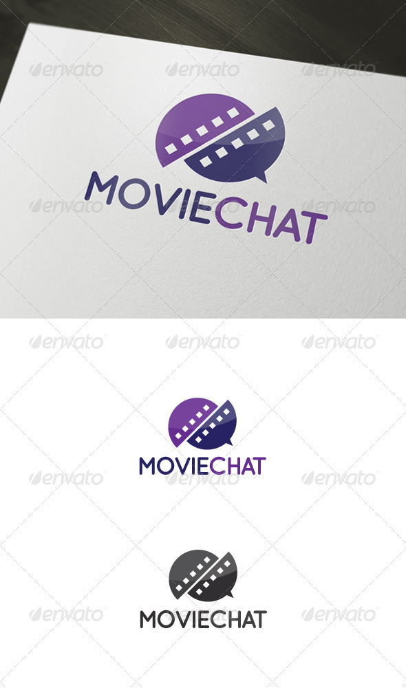 Movie Chat Logo - Abstract Logo Templates