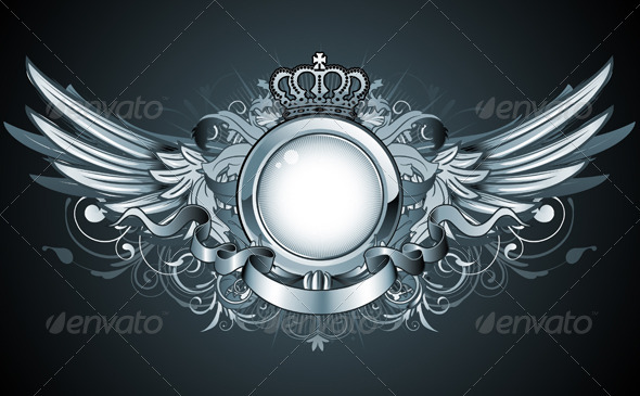 Heraldic frame - Decorative Vectors